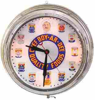 Country Store Clock, Rare Chef Boy-Ar-Dee Quality
