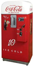 Coca-Cola Coin-Operated Vending Machine, Vendo 39 B, 10