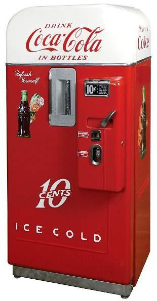 Coca-Cola Coin-Operated Vending Machine, Vendo 39 B, 10
