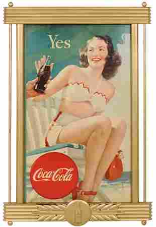 "Coca-Cola Sign ,""Yes"", Niagara litho on cdbd in Kay"