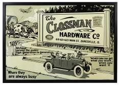 Hardware Store Sign, The Clossman Hardware