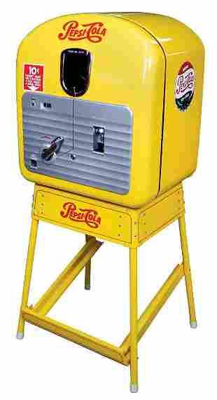 Pepsi-Cola Vending Machine on Stand, Vendo 27, 10 Cent,