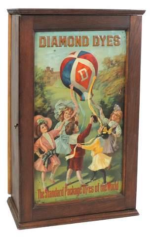 Country Store Diamond Dye Cabinet, Children w/Balloon,