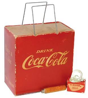 Coca-Cola Picnic Cooler, Ice pick & Bottle Opener, Rare