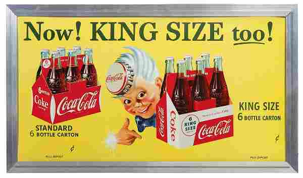 """Coca-Cola Sign, Sprite Boy introducing the """"King Size"""""""