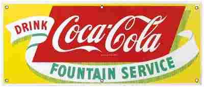Coca-Cola Sign, Drink Coca-Cola Fountain Service,