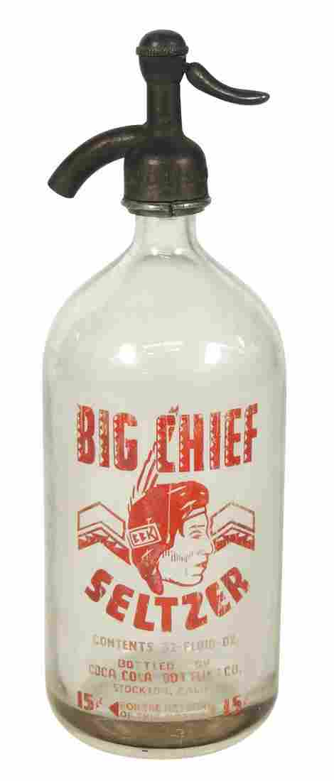 Coca-Cola Big Chief Seltzer Bottle, from Coca-Cola