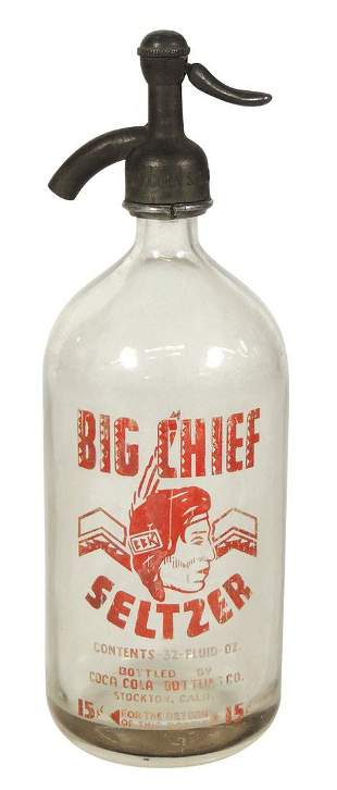 Coca-Cola Big Chief Seltzer Bottle, from Coca-Cola