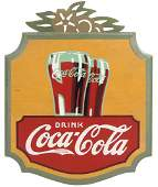 Coca-Cola Sign, Drink Coca-Cola, wood Kay Displays