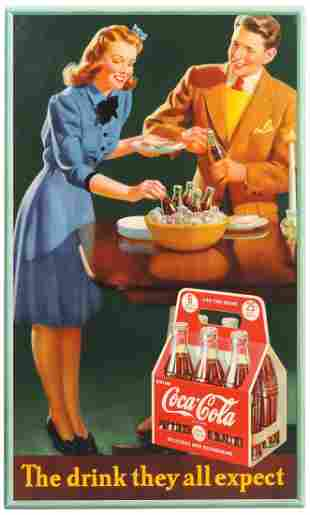 Coca-Cola Sign, The drink they all expect, litho/cdbd