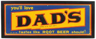 Soda Fountain Sign, Dad's tastes like Root Beer should,