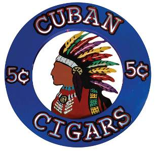 Cigar Store Neon Sign, Cigar Store Indian by Artist
