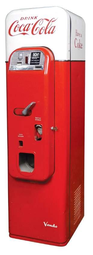 Coca-Cola Coin-Operated Vending Machine, Vendo 44, 10