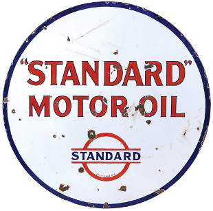 Petroliana Sign, Standard Gasoline-Motor Oil,