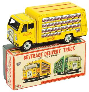 Coca-Cola Toy Beverage Delivery Truck w/Box, Japanese