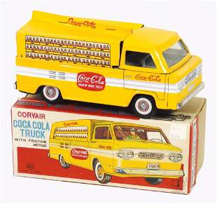 Coca-Cola Toy Corvair Pickup w/Box, Japanese litho on