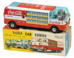 Coca-Cola Toy Truck w/Box, Japanese Soda Car Series,
