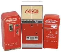 Coca-Cola Smalls (3), Rare cdbd Sample V-39 Machine,