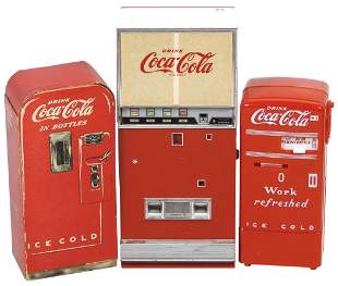 Coca-Cola Smalls (3), Rare cdbd Sample V-39 Machine,