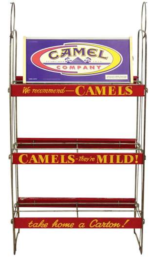 Tobacciana (2), Camel Cigarettes wire display stand