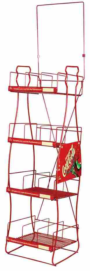 "Coca-Cola Wire Bottle Stand, ""Enjoy Classic"" 4 shelf"