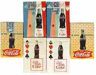 Coca-Cola Playing Card Decks (6), all 1960s, 5 sealed