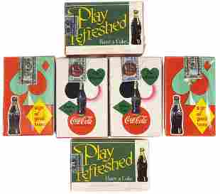 Coca-Cola Playing Card Decks (6), 1950s sealed decks in