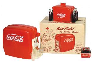 Coca-Cola Smalls (3), toy dispenser w/box, miniature