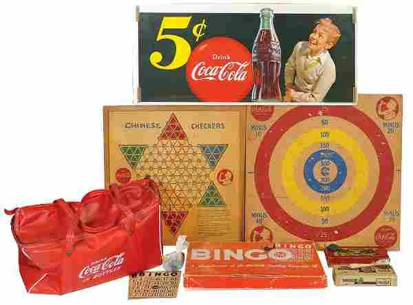 Coca-Cola Sign, Games & Cooler Bag (8 pcs), paper 5