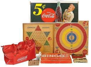 Coca-Cola Sign, Games & Cooler Bag (8 pcs), paper 5