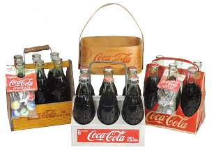Coca-Cola Bottle Carriers (4), c.1940s wood, VG cond,