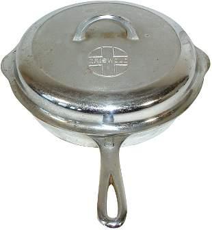 Griswold cast iron skillet & lid, #8 skillet w/self