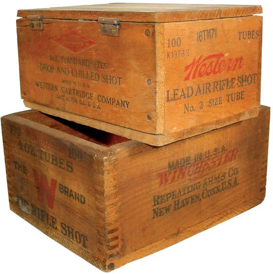 Ammo boxes (2), Winchester Air Rifle Shot dovetailed