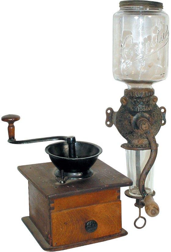 """20: Arcade """"Crystal"""" coffee grinder & wood laptop grind"""
