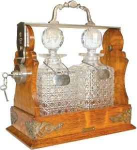 283: Tiffany & Co. London Square locking liquor caddy,