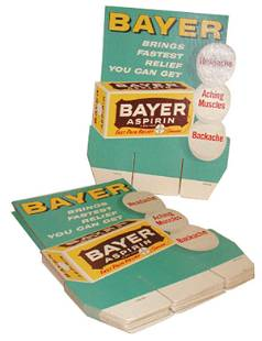 New old stock Bayer Aspirin store displays (13); l