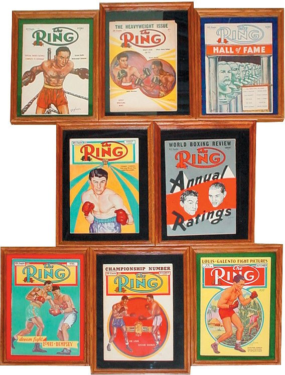 "654: Boxing ""Ring"" magazines (8); Sept. 1939, Apr. & Au"