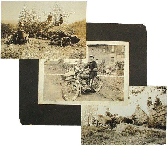 655: Harley-Davidson photographs (3); actual early 1900