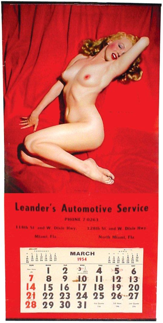 656 Marilyn Monroe 1954 Nude Calendar Titled Golden
