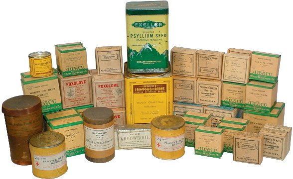 661: Drugstore remedies; approx. 50 early 20th century