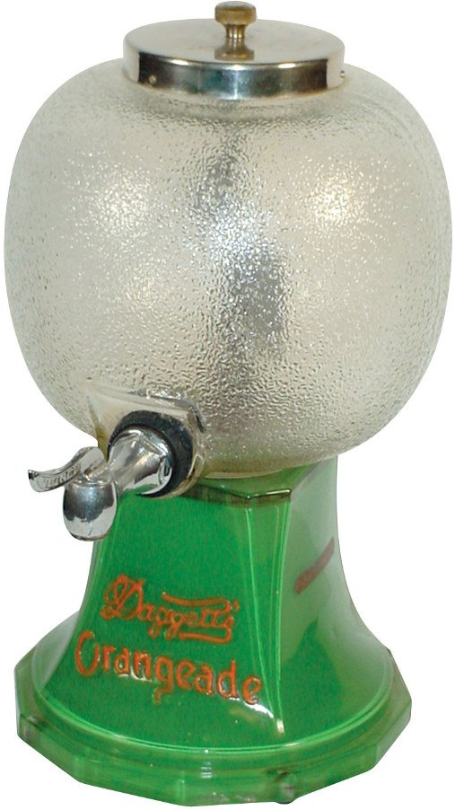 1018: Syrup dispenser, Daggett's Orangeade, Property of