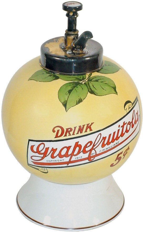 1019: Syrup dispenser, Grapefruitola, dated 1913 by F.M
