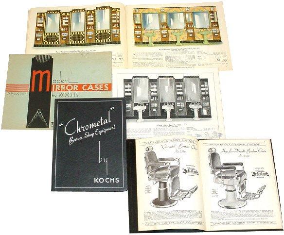1356: Kochs Barber Shop Catalogs (3); Modern Mirror Cas