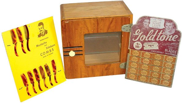 1357: Barber shop cabinet & counter display cards for G