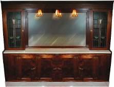 Marble soda fountain back bar, Knight Soda Founta