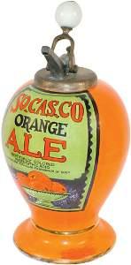 1620: Syrup dispenser, So. Cas. Co. Orange Ale, urn sha