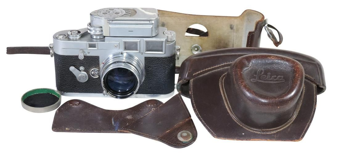 Photography, Leica M3 camera & meter, Germany, c.1955,