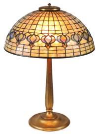 """Table Lamp, Tiffany Studios """"Pomegranate"""", leaded"""