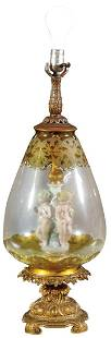 Lighting, Hollywood Regency figural table lamp,