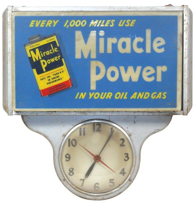 10: Miracle Power in Your Oil & Gas light-up clock, pla